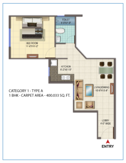 1 BHK type A