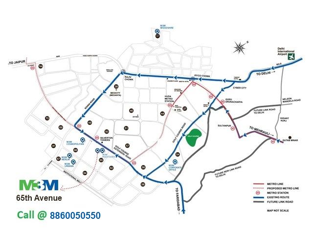 M3M location map